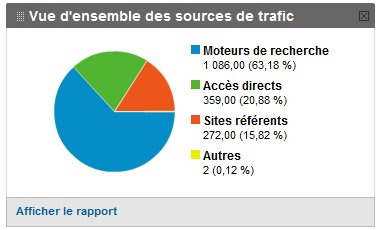 Google Analytics : traffic sources