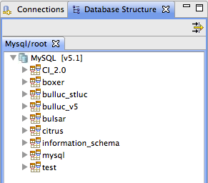 View Database structures