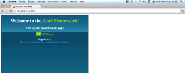 Zend Framework installation complete